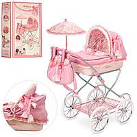 Коляска 81026 (4шт) для куклы, классика, сумка, зонтик, корзинка,68-81-42см,в кор-ке,36-61-14см