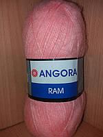 Мохеровая пряжа (100г/500м, 40%-мохер, 60%-акрил) Angora Ram 565(персиковый)