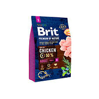 Brit Premium Dog ADULT S 3 кг Корм для собак мелких пород (1-10 кг)