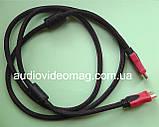 Кабель HDMI - HDMI, длина 1,4 метра, черно-красная оплетка, толщина - 8 мм, фото 2