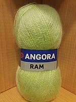 Мохеровая пряжа (100г/500м, 40%-мохер, 60%-акрил) Angora Ram 636(салатовый)
