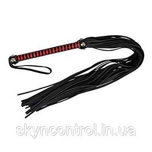 Кожаная плеть ZADO бардово - черная, фото 2