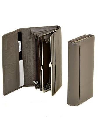 79c5c801336f Женский стильный кожаный кошелек DR. BOND кожа, большой женский кошелек  портмоне из натуральной кожи, СЕРЫЙ.
