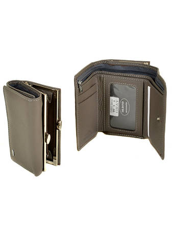 996d55bb1a36 Женский кожаный кошелек DR. BOND кожа, женский кошелек портмоне из натуральной  кожи, СЕРЫЙ.