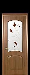 Полотно Антре ПВХ DeLuxe от Новый стиль (золотая ольха, каштан,патина)