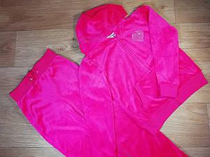 Велюровый ярко розовый костюм (Размер 6Т) GAS (США)