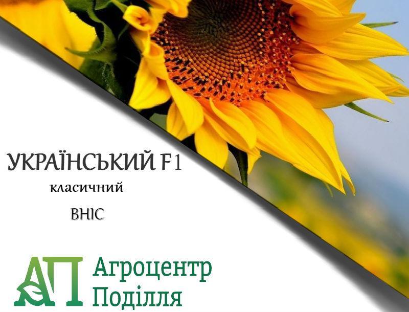 Семена подсолнечника УКРАИНСКИЙ F1 105-108 дн. ВНИС (бесплатная доставка) Урожай 2018 г.