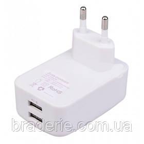 Універсальний зарядний пристрій на 2 USB 3.1 А 2.1 A