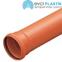 Труба 110х6 м. (3.2) канализационная ПВХ Evci Plastik, фото 1