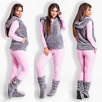 Женская теплая пижама с жилеткой и сапожками (р.42-52) 427d1729753b3