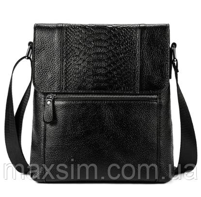 be30efdacdd8 Мужская кожаная сумка из натуральной кожи Westal на ремне. Сумка-барсетка.