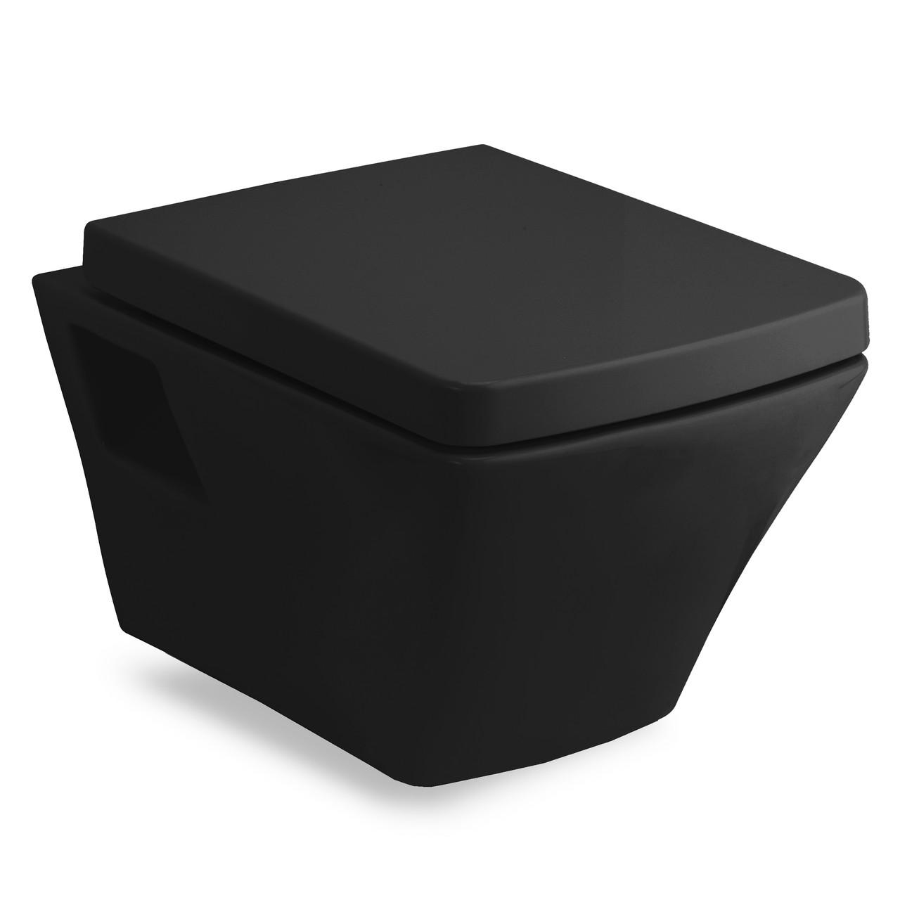Подвесной унитаз Volle TEO 13-88-422 black с сиденьем slow-closing