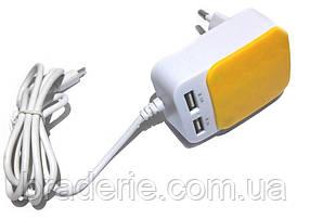 Универсальное сетевое зарядное устройство KeKe F9C 2 USB 3.1 А