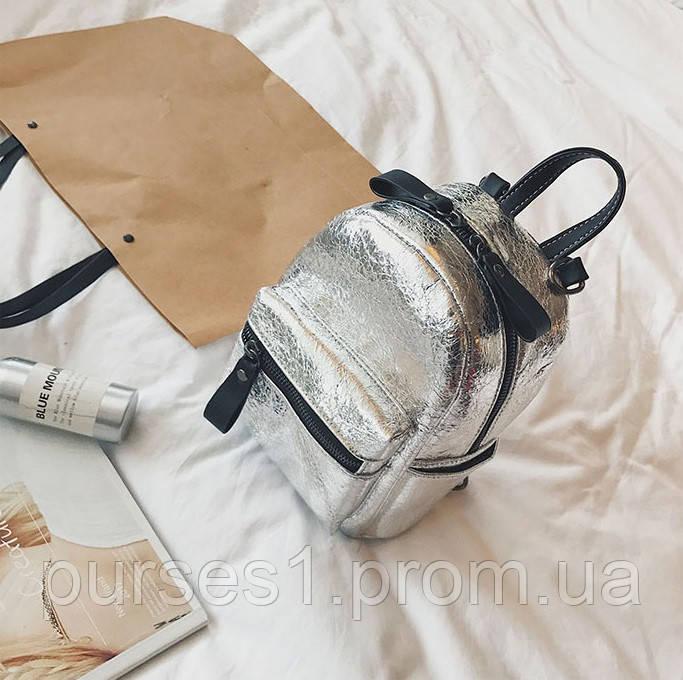 b61f6150ac5d Блестящий женский рюкзак (серебро), цена 340 грн., купить в Одессе ...
