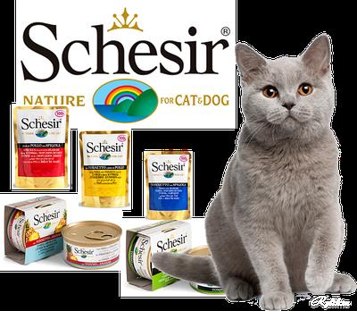 Консервы для кошек Schesir (Шезир, Италия)
