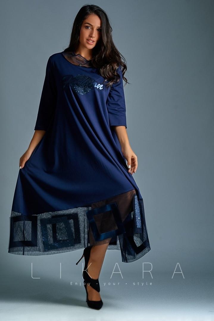 a5b078de38f Платье большого размера Likara   французский трикотаж   Украина 32 ...