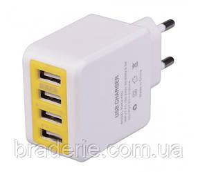Универсальное сетевое зарядное устройство KeKe F6C 4 USB 3.1 А