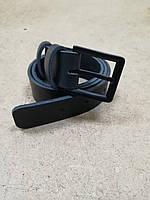 Кожаный классический ремень 35 мм (3.5см) с черной пряжкой.