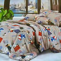 Полуторный комплект постельного белья из бязи Эконом