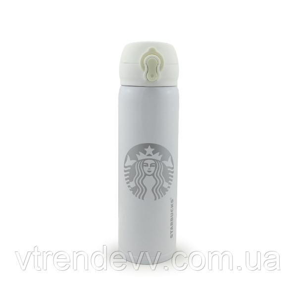 Термос Starbucks 480 мл белый