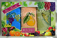 Полотенца махровые кухонные - Merzuka - Fruits - 3 шт. - 30*50 - 100% хлопок - Турция - (kod1683)