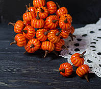 Гарбуз помаранчева на дроті 3 шт, фото 1