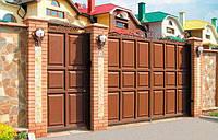 Распашные ворота 4000х2000 заполнение филенка, фото 1