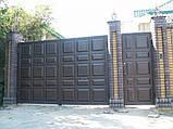 Распашные ворота 4000х2000 заполнение филенка, фото 2