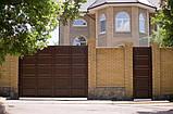 Распашные ворота 4500х2000 заполнение филенка, фото 3