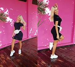 """Облегающее трикотажное мини-платье """"ДЖЕРСИ"""" с коротким рукавом (6 цветов), фото 2"""