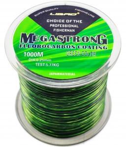 Леска с флюрокарбоновым покрытием Megastrong, длинна 1000 метров, толщина 0,35  (8.84kg)