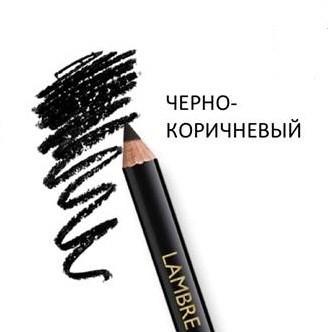 """Карандаш для бровей """"BROU PENSIL - черно-коричневый"""" Ламбре / Lambre"""