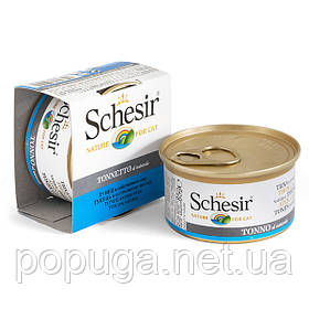 Schesir Tuna Natural Style консерви для кішок, тунець у власному соку, банку 85 г