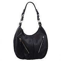 Женская кожаная сумка-мешок на одной ручке NN B-NN13764 черная