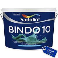 Матовая моющаяся краска для стен Sadolin Bindo 10  2,5л белая