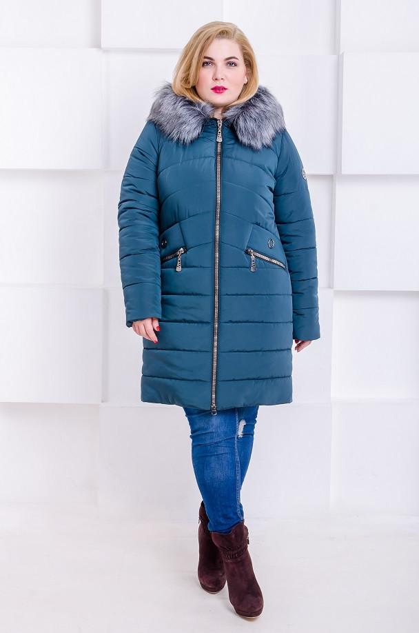 592db47d954 Женская модная зимняя куртка размер плюс Gerda изумруд (48-58). Нет в  наличии