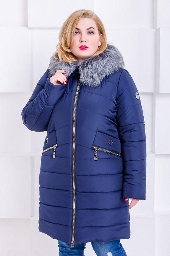 b93f45286d0 Женская модная зимняя куртка размер плюс Gerda темно-синий (48-58). Нет в  наличии
