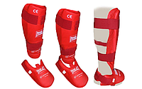 Защита для ног (голень+стопа) разбирающаяся PU EVERLAST  (р-р S-XL; красный) Everlast, XL
