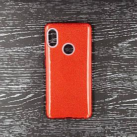 Чехол накладка для Xiaomi Mi 6X | Xiaomi Mi A2 силиконовый, Remax Case 3 в 1 GLITTER, Красный