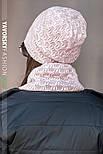 Женская шапка на флисе и хомут (в расцветках), фото 2