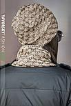 Женская шапка на флисе и хомут (в расцветках), фото 3