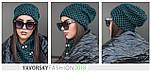 Женская шапка на флисе и хомут (в расцветках), фото 9