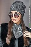 Женская шапка на флисе и хомут (в расцветках), фото 10