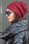 Женская шапка на флисе и хомут (в расцветках), фото 4