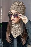 Женская шапка на флисе и хомут (в расцветках), фото 6