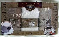 Полотенца махровые кухонные - Merzuka - Latte - 3 шт. - 40*60 - 100% хлопок - Турция - (kod1716), фото 1