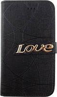 Чехол TOTO Book Universal cover Love 4.5-5.0 Black (45Univer)