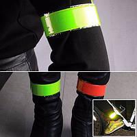 Светоотражающая лента-браслет (фликер) желтая