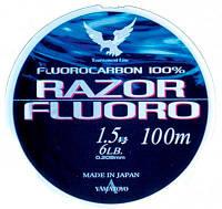 Yamatoyo RAZOR FLUORO 100 m CLEAR-FLUORO 0.205mm 6LB/2.72kg