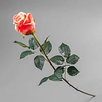 Роза искусственная 77 см, силикон 008F/pink